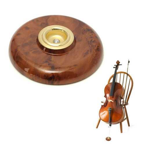 Imitation Carbon Fiber Metal Eye Anti-Slip Mat Wood Color For Cello