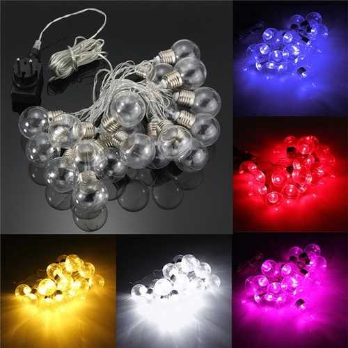 20 Piece LED Clear Festoon Party String Light Kit Connect Cable Vintage Style