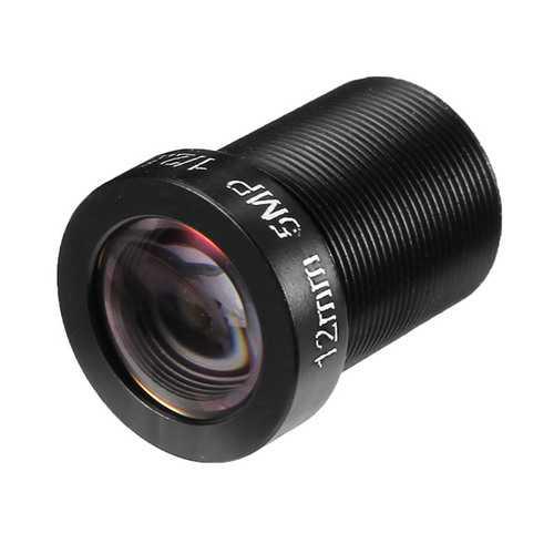 12MM 5MP 1/2.5 M12 20 Degree IR Sensitive FPV Camera Lens