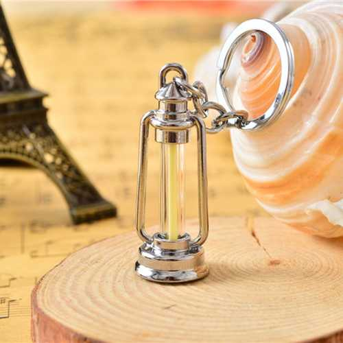 Barn Lantern Metal Keychain With 15Years Self-Luminous 3x22.5mm Tritium
