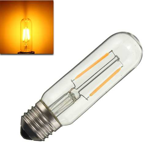 Dimmable T10 E27 2W COB Pure White Warm White 200Lumens Retro Edison Light Bulb AC110V AC220V