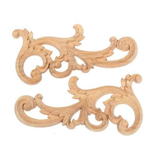 Wood Carved Corner European Style Floral Applique Carving Frame Cabinet