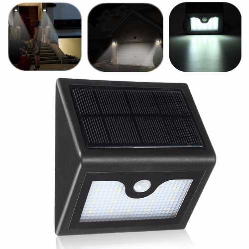 16 LED Solar Power PIR Motion Sensor Wall Light Outdoor Waterproof Garden Lamp