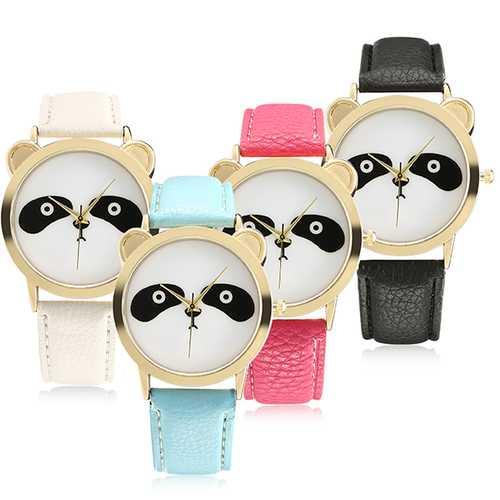 Fashion Panda Unique Women Quartz Watch Leather Women Men Wrist Watch