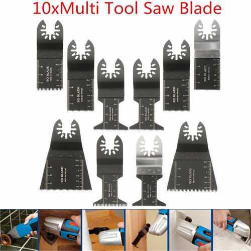 10pcs Multitool Saw Blade Accessories For Dewalt Stanley Black and Decker Bosch Multitool