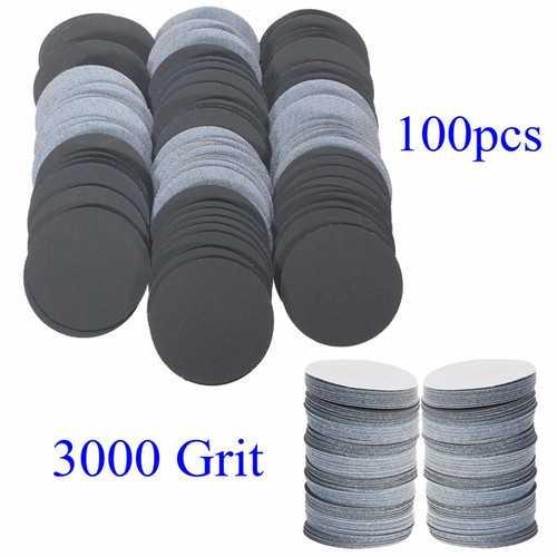 100pcs 25mm 3000 Grit Abrasive Sand Discs Sanding Polishing Pad Sandpaper