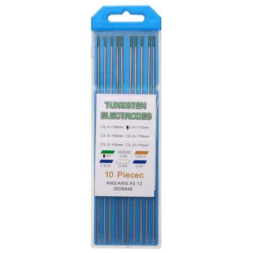 10Pcs 175x2.4mm WP Green Welding Tungsten Electrode Welding Electrodes