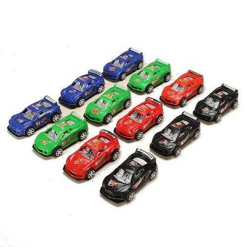 12xHZ Pull Back Racing Car Toys with Light Color Random