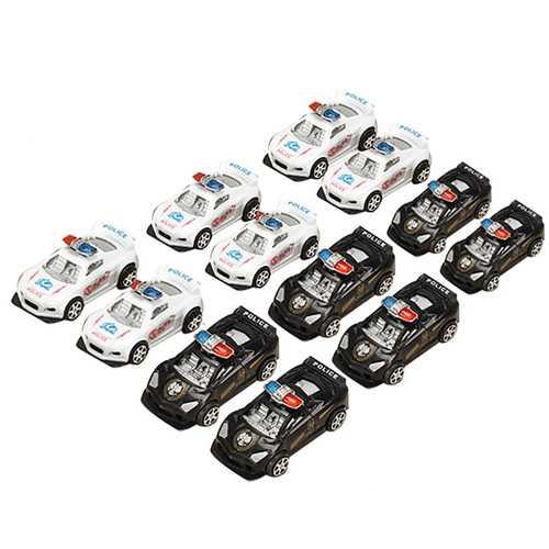 12xHZ Slide Racing Car Toys with Light Police Car Color Random