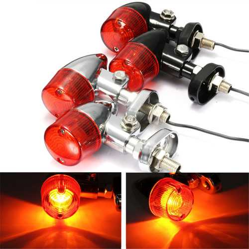 Motorcycle Bullet Turn Signal Indicator Light Bulb For Harley Chopper Cruiser