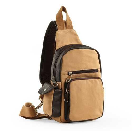 Men Canvas Travel Waist Bag Outdoor Sport Crossbody Bag