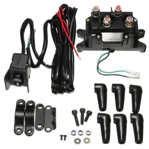 12V Solenoid Relay Contactor Winch Rocker Thumb Switch For ATV UTV