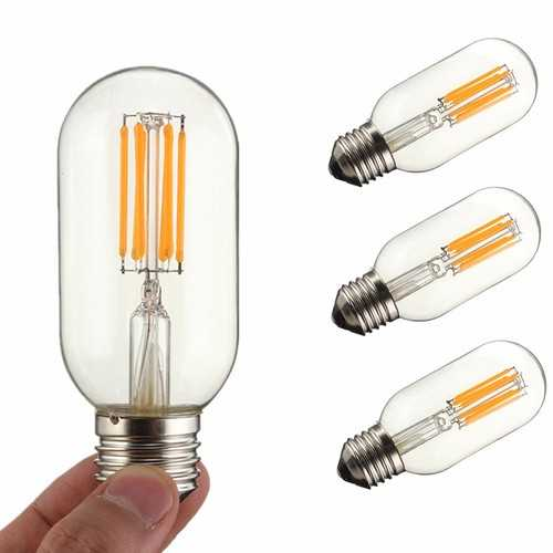 Dimmable E27 E26 T45 6W COB Incandescent Warm White Edsion Restro Light Lamp Bulb AC110V AC220V