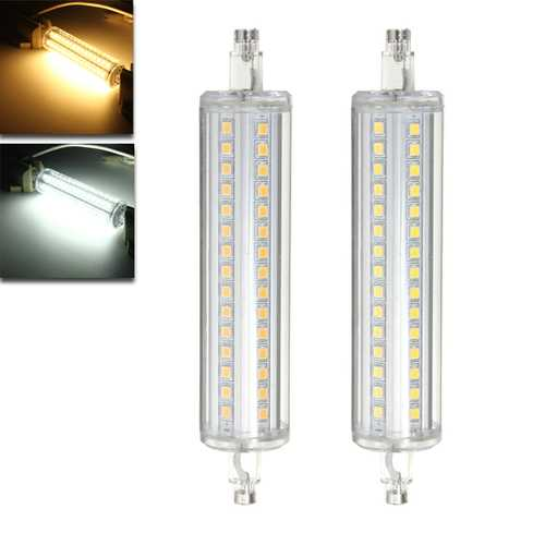 Dimmable R7S 135MM 10W 90 SMD 2835 LED Pure White Warm White 650Lumens Light Lamp Bulb AC85-265V