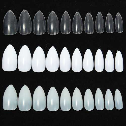 600pcs Almond Oval Shape Stiletto Pointy Full False Nail Art Tips Claw Acrylic Gel Polish