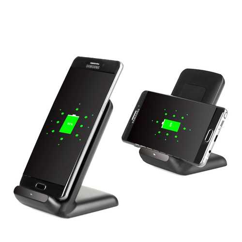 2 Coils Qi Wireless Fast Charger Charging Stand Dock Holder For Samsung S8 Galaxy Lumia