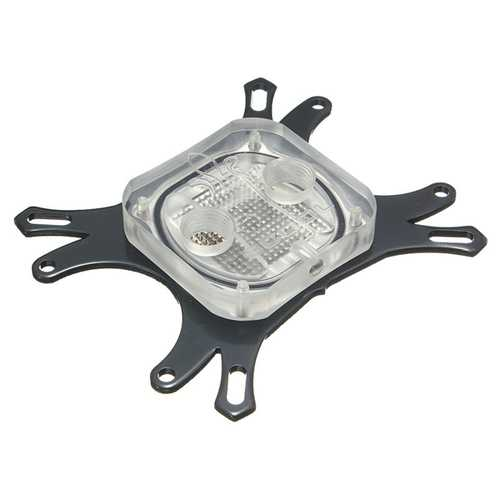 50mm CPU Water Cooling Block Water Block Plating Base Cool Inner Channel