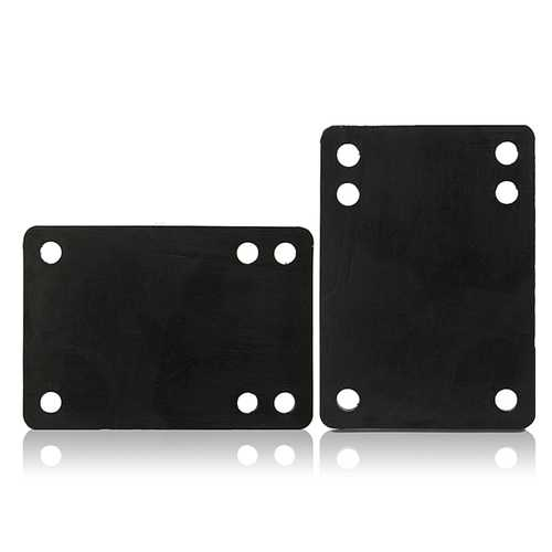 2pcs 3mm Soft PU Skateboard Riser Pads Longboard Shockproof Parts