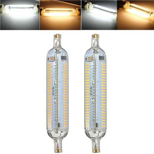 R7S 10W 118MM 192 SMD 4014 LED Pure White Warm White Corn Light Lamp Bulb AC220V