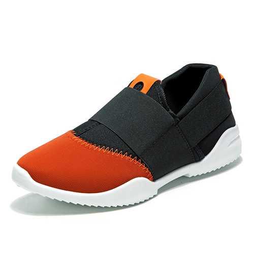 Men Breathable Elastic Bnad Slip On Casual Sneakers