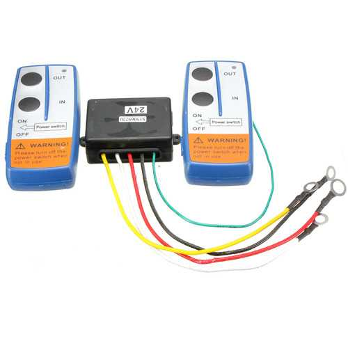 18m 24V Recovery Winch Crane Wireless Remote Controller Range