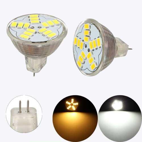 MR11 GU4 7W 600LM LED Bulb Lamp 15 5630 SMD Warm White Pure White For Ceiling Lights AC 12V