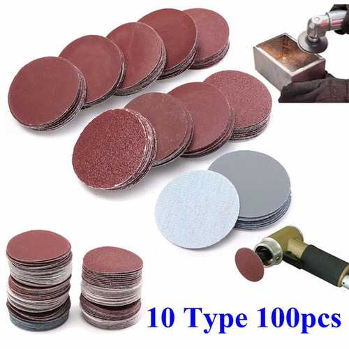 100pcs 2 Inch 50mm Sander Disc 80 to 3000 Grit Sanding Polishing Pad Sandpaper