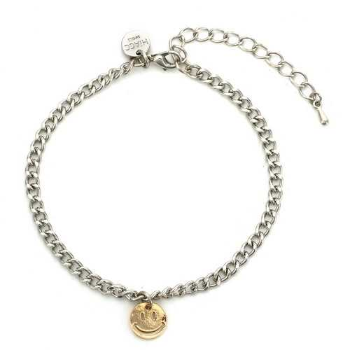 Anklet Atmospheric Noble Metal Chain Emoji Smile Anklet For Women