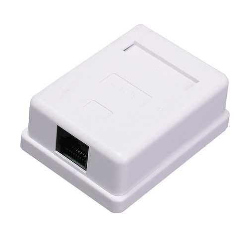 Cat5e HM-HB01 Model UTP Unshielded RJ45 Single Port Desktop Box Network Connector