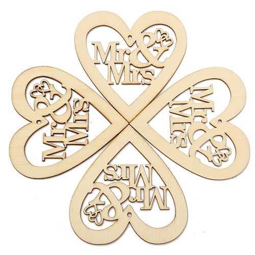 10pcs Wooden Laser Cut Heart Shapes Craft Embellishments Decoration Wedding Favors