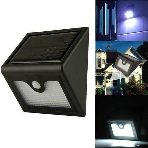 28 LED Solar Power Light & PIR Sensor Wall Light Outdoor Garden Lamp