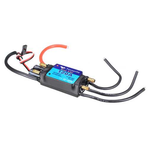 FVT BOAT0120 120A Brushless Senseless BOAT ESC Speed Controller Waterproof 5V/5A RC Boat Part