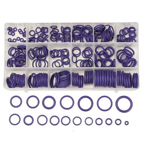 225Pcs R22/R134a Air Conditioning O-Ring Rubber Rings Waterproof Washer
