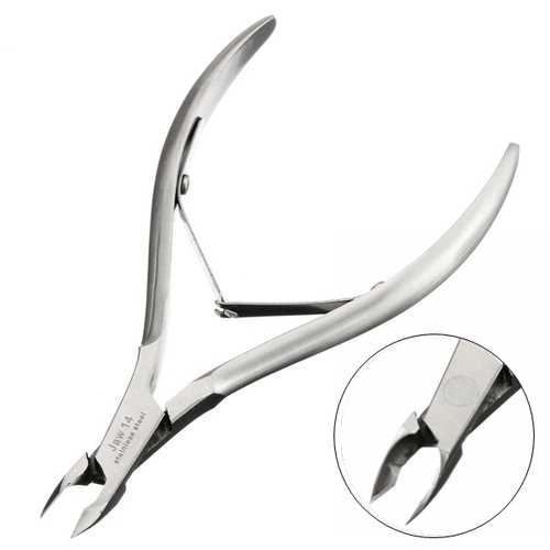 Professional Nail Tool Exfoliate Dead Skin Remover Scissors Cuticle Nipper Silver Stainless