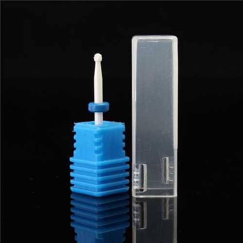 2.35mm Ceramic Nail Art Drill Bit Round Gel Remover Electric Manicure Tool File Polish Blue