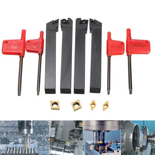 4pcs 12x100mm Lathe Turning Tool Holder Boring Bar For CCMT09T3 And DCMT0702 Inserts