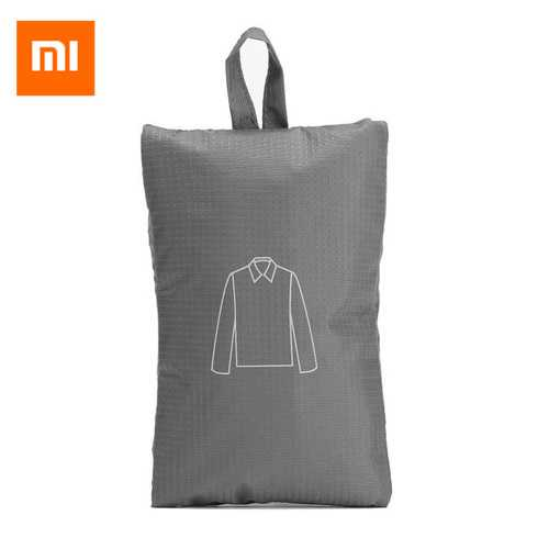 90FUN Portable Storage Backpack Folding Waterproof Pouch Travel Compression Clothes Bag Gray From Xiaomi Youpin