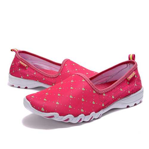 Casual Women Shoes Outdoor Sport Running Breathable Slip On Soft Flat