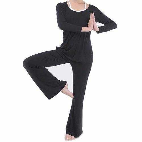 Plus Size Women Yoga Suits Sports Fitness Yoga Clothing Set Modal Bunched Stitching Sportswear
