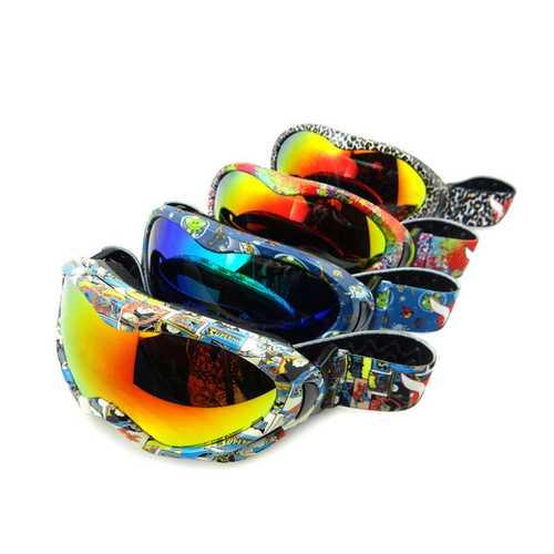 Anti Fog Windproof UV400 Kids Ski Goggles Unisex Glasses Outdooors Motorcycle