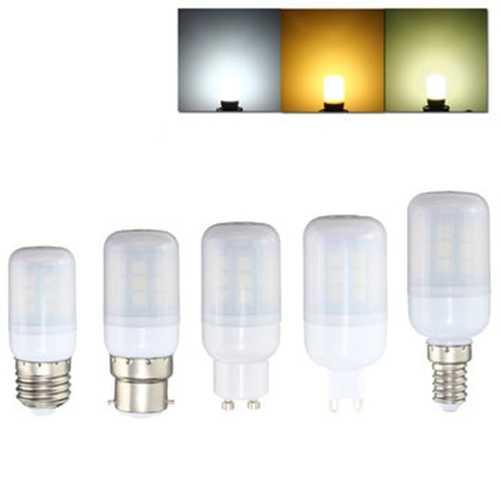 E27 E14 B22 G9 GU10 3W 27 SMD 5050 LED Pure White Warm White Natural White Cover Corn Bulb AC220V