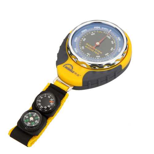 4 In 1 Functions Digital Mini Compass Altimeter Thermometer Barometer Equipment With Carabiner