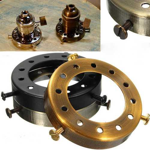 "2-1/4""Solid Brass Uno Thread Shade Fitter Industrial Retro Pendant Light Holder"
