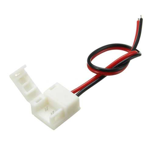 8mm/10mm Width One Terminal Connector with Wire Waterproof for Single Color LED Strips