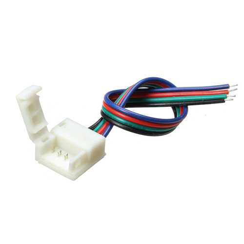 10mm Width PCB 4 Pin Wire Connector for Waterproof RGB LED Strip