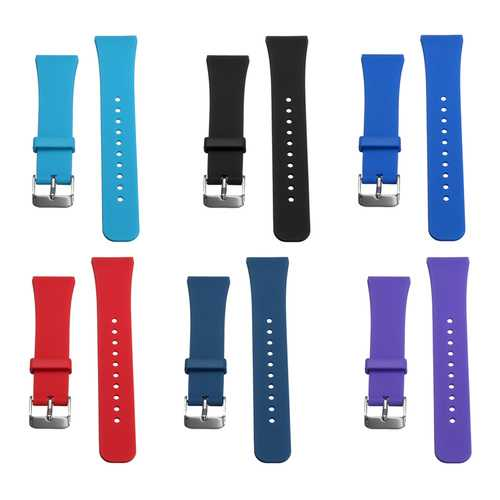Approx 11.5-17.5cm Silicone Soft Replacement Smart Wrist Strap For Samsung Gear Fit 2