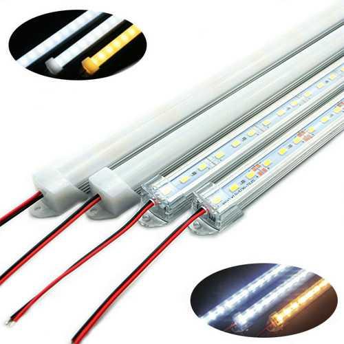 50CM SMD 5730 36 LED Rigid Strip Tube Bar Light Lamp With U Aluminium Shell + PC Cover DC12V Christmas Decorations Clearance Christmas Lights