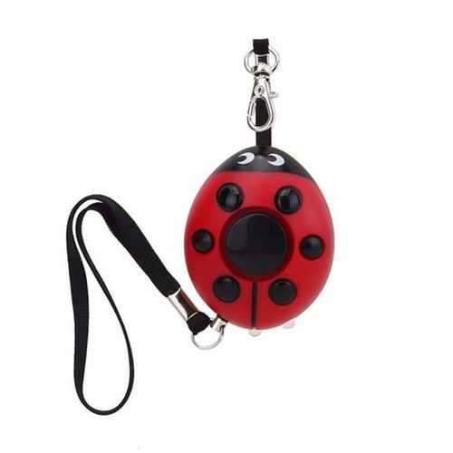 Beatles Portable Mini Speaker Defense Personal Alarm Key Chain With LED Flashlight For Women