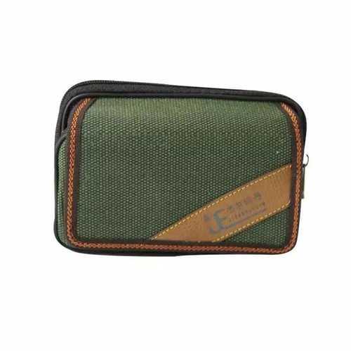 Jieerruidan Waist Bag Sports Running Bag Canvas Double Zipper Phone Bag for Phone under 6 inch