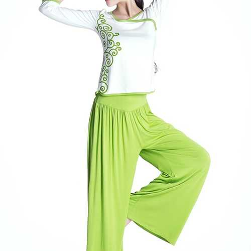 Women Fitness Yoga Sets Lady Sports Exercise Gym Clothing Set Tops And Loose Pants